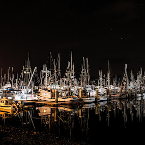 Night Lights by Craig Turner - Transportation Boats ( ca, golden gate bridge, mountain, northern california, sea guls, travel, beach, sky, tree, nature, oakland, snow, tropical ocean, grass, california, journey, horizon, forest, lake, sf, bay bridge, sunlight, rural, vacation, dawn, season, bay, scene, view, natural, panoramic, port, ocean, beauty, landscape, sun, panorama, tranquil, nor cal, ecology, sf bay, evening, san francisco, golden hour, clouds, water, desert, park, waves, beautiful, sea, paradise, bird, amazing, color, blue, sunset, outdoor, background, summer, cloud, sunrise, scenery,  )