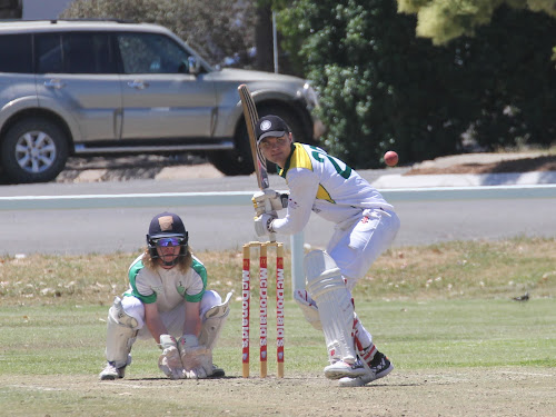 Tatts skipper Jake Packer, right, is ready for a big weekend of cricket which includes two matches - a T20 grand final and a top-of-the-table 45-over game where a win would send his side to the top of the ladder. Wicketkeeping is Crossroads' Coby Cornish.