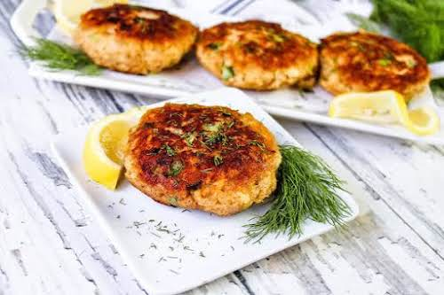 """Canned Salmon Patties (Best Ever) """"O M G! These are to die..."""
