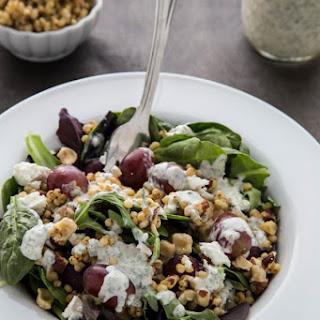 Goat Cheese and Grape Sorghum Salad