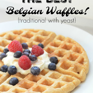 The Best Belgian Waffles (traditional with yeast).