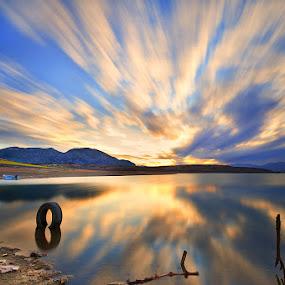 Eight by Nikos Koutoulas - Landscapes Waterscapes ( clouds, greece, pwcreflections, lake, 16-35mm, kranidia, κρανίδια, ηλιοβασίλεμα, κοζάνη, nd400, kozani, sky, sunset, ελλάδα, nikon, hoya, filter, λίμνη )