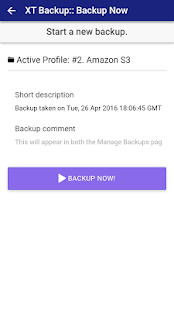 XT Backup for Akeeba- screenshot thumbnail