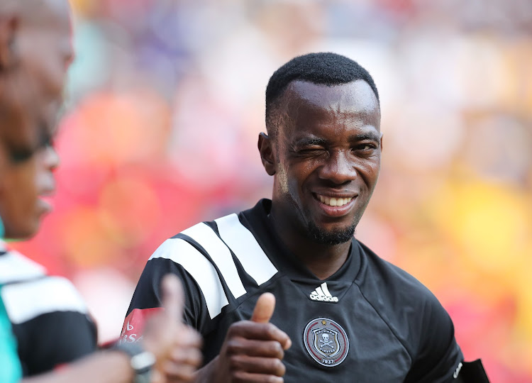Orlando Pirates' Zambian striker Justin Shonga during the Absa Premiership match against Kaizer Chiefs at Soccer City, Soweto on 03 March 2018.
