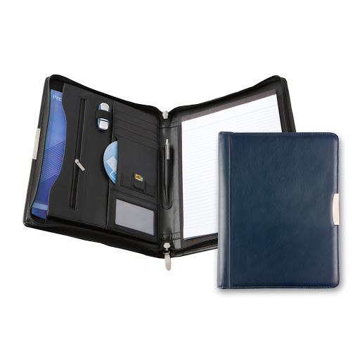 Bespoke Leather Zip Folder A4