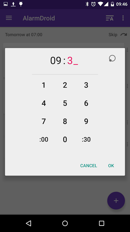 AlarmDroid (alarm clock)- screenshot