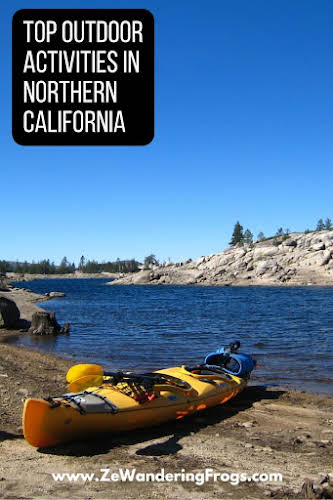 Top Outdoor Activities in Northern California // Kayaking Loon Lake in the Sierra Nevada Mountains Pinterest