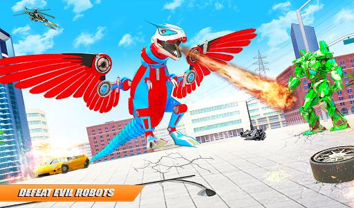 Flying Dino Transform Robot: Dinosaur Robot Games screenshot 9