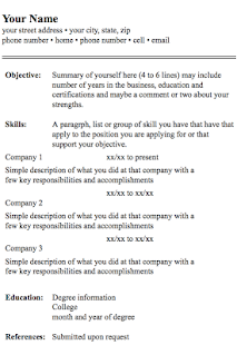 resume format screenshot thumbnail - Format Of A Resume