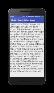 Shahid Kapoor Video Songs screenshot 4