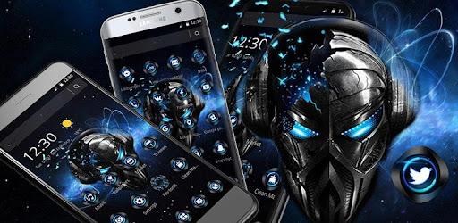Aplikasi Blue Tech Metallic Skull Theme (apk) download gratis untuk Android/PC/Windows screenshot