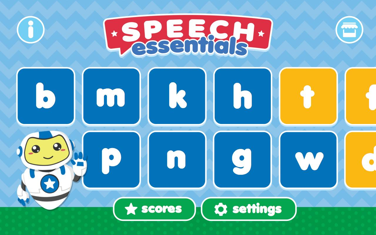Speech Essentials Therapy App- screenshot