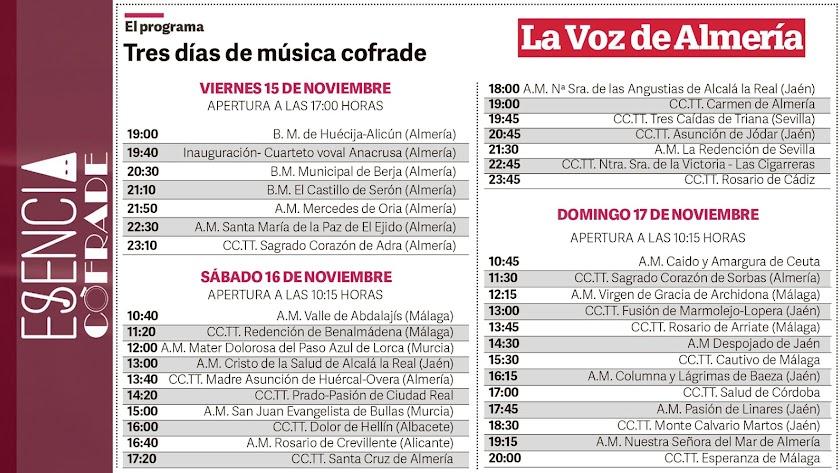 Programa musical de Esencia Cofrade.