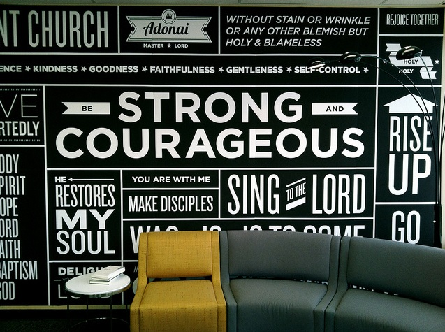 Photo: Another great inspiration photo with a more retro feel. The white on black contrast really makes the words stand out and give them feeling, doesn't it?   Photo Credit: http://wayfair.ly/HBmbVj