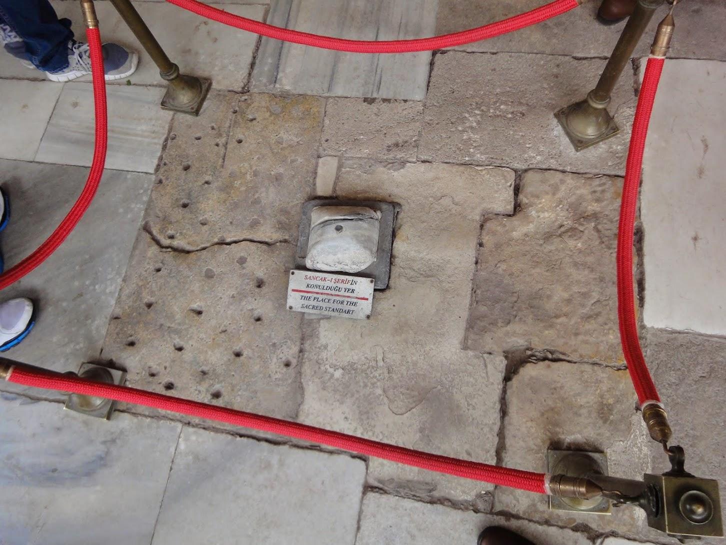 Pierre aux décapitations dans le Palais de Topkapi