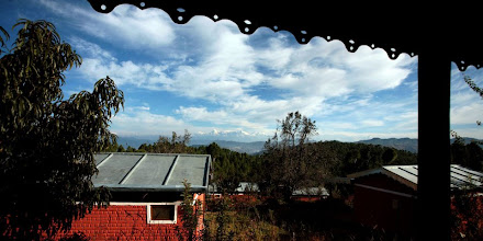 Photo: The view from the Dining area - note the snow capped hills in the distance
