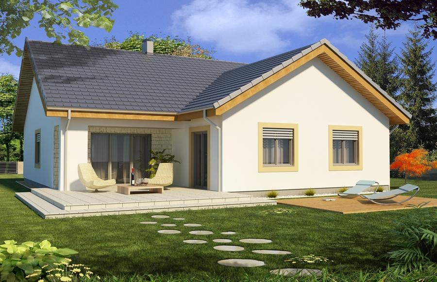 Projekt domu Ambrozja 2 wersja C parterowa z podwójnym garażem (TBD 347)  12   -> Kuchnia Letnia Z Garażem