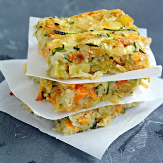 Vegetable Kugel with Caramelized Leeks.