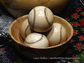 Photo: More maple baseballs, displayed in persimmon bowl  (December 2015)