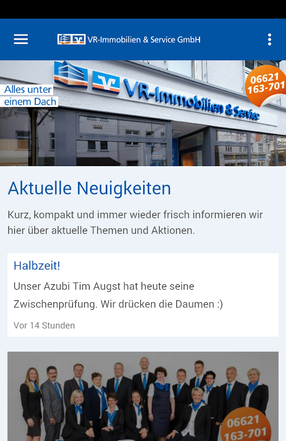VR-Immobilien & Service GmbH – Screenshot
