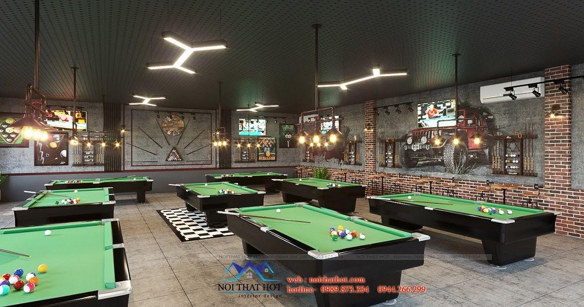 thiết kế quán billiards cá tính