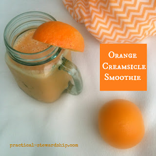Orange Creamsicle Smoothie Recipe by Sonja Sarr from Practical-Stewardship.com