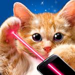 Real cat laser joke icon