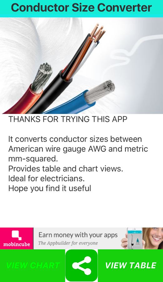 Conductor size converter android apps on google play conductor size converter screenshot greentooth Choice Image