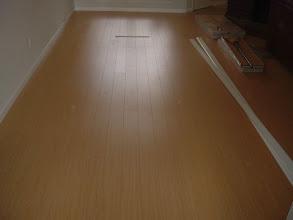"""Photo: 4"""" laminated planks install."""