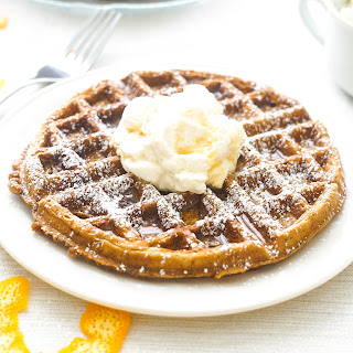 Gingerbread Waffles with Orange Whipped Cream