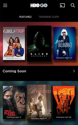 Screenshot 5 for HBO GO's Android app'