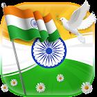 印度旗帜独立日自由三重奏我爱我的印度发射主题 icon