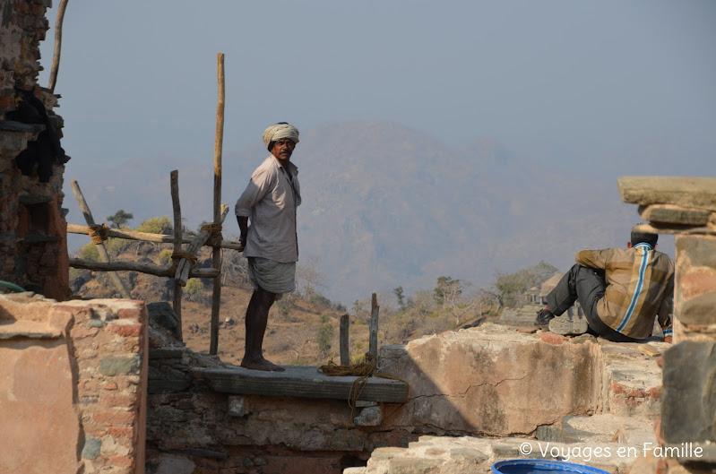 Kumbhalgarh, travaux
