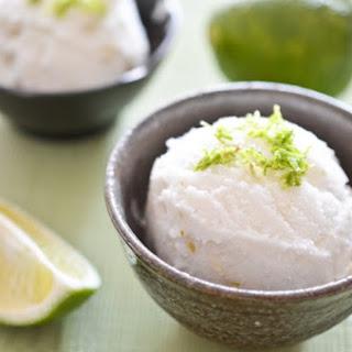 Lime Coconut Sorbet.