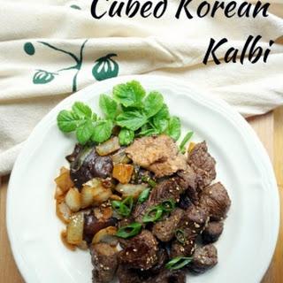 Cubed Korean Kalbi