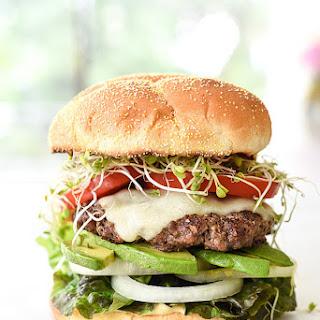 California-Style Bison Burger.