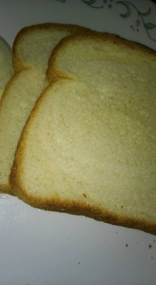 Two slices soft white bread.
