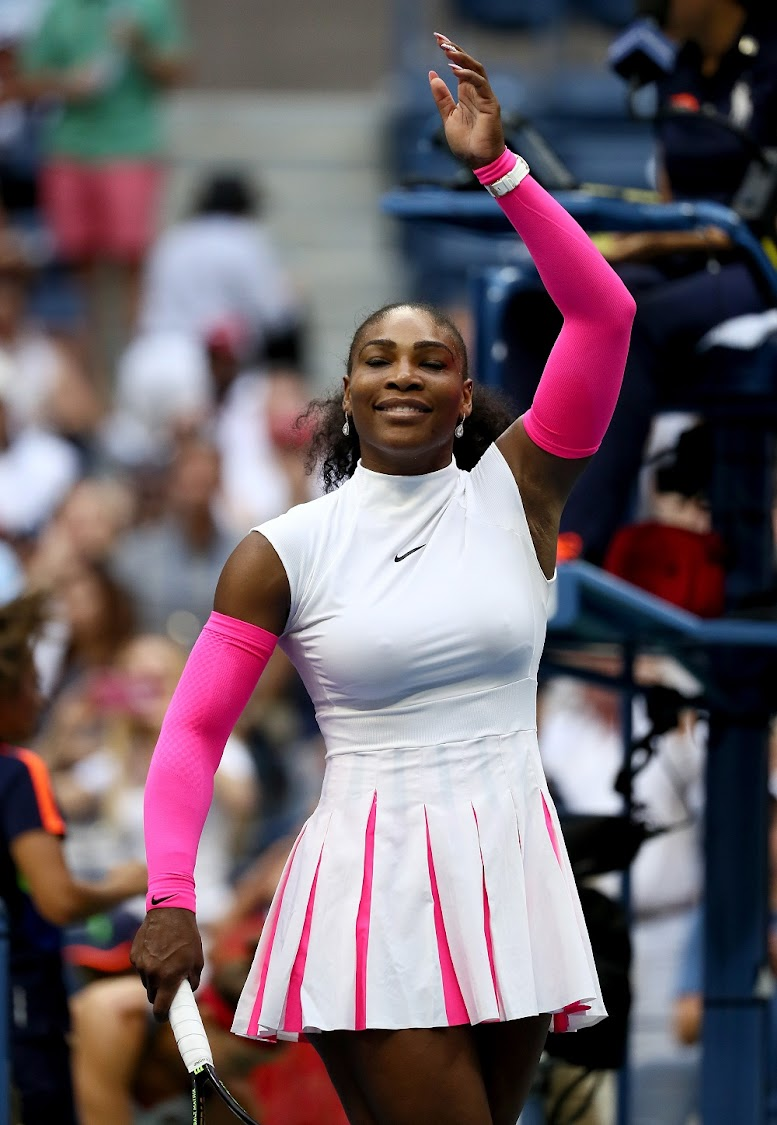Serena Williams at 2016 US Open in New York. (Photo by Al Bello/Getty Images)
