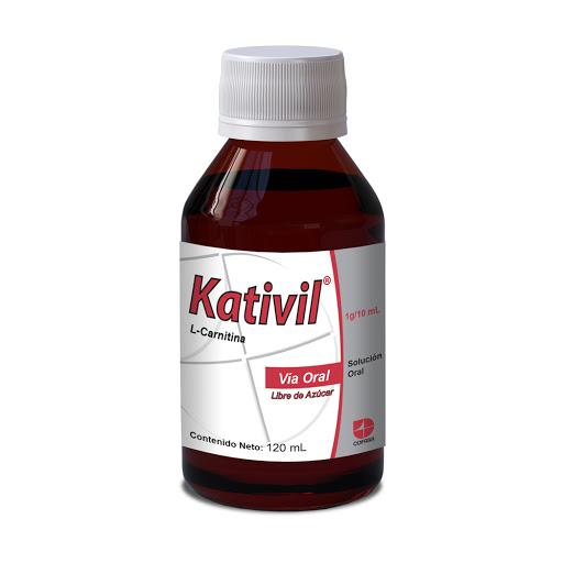 L-Carnitina Kativil 1 g Solución Oral x 120 mL Cofasa 1 g Solución Oral x 120 mL