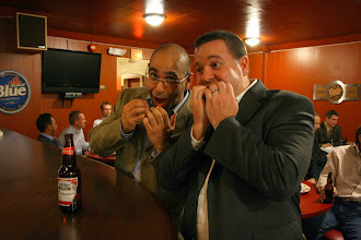 Photo: I don't know if Georges Maamari and Stephen Lynch are frightened or hungry in this magnificent photo