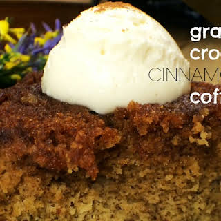 Grain-free Crock Pot CINNAMON ROLL COFFEECAKE~ Served with Cream Cheese Frosting.