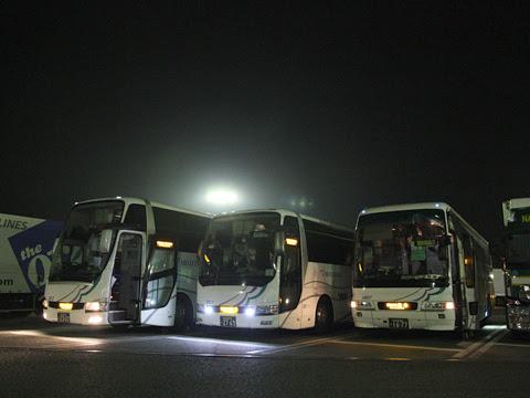 名鉄バス「不知火号」 2912&2607&2011玉名SAにて