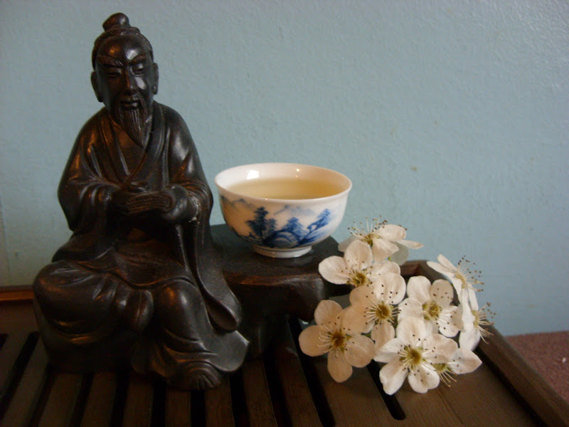Photo: My statue of Lu Yu. I bought him off of Ebay and he guards my teaware shelves :)