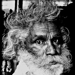Curious grandfather by Shashank Ramesh - People Portraits of Men ( oldage, age, beard, moustache, men )