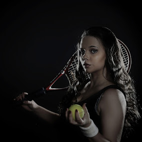 Anna the tennis player by Michaela Firešová - People Professional People ( portrait, female, tennis )