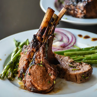 Spicy Honey Garlic Rack of lamb
