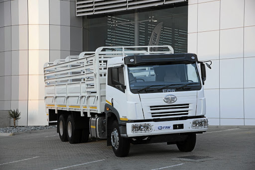FAW will display its products at Nampo again this month, including this cattle body version. Picture: FAW SA