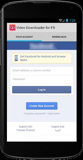 Facebookのためのビデオをダウンロード
