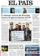 Photo: La fortuna secreta de Bárcenas reaviva la guerra interna del PP, el Ejército de Argelia libera la planta de gas con un baño de sangre y el 40% de todas las reformas anunciadas por el Gobierno siguen en el aire, en la portada de EL PAÍS, edición nacional, del domingo 20 de enero de 2012http://cort.as/3DUw