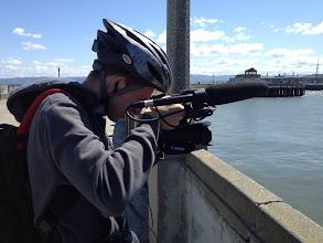 Photo: Filming on a bike tour